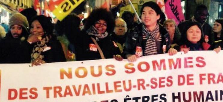 Les grévistes du 57 en manifestation